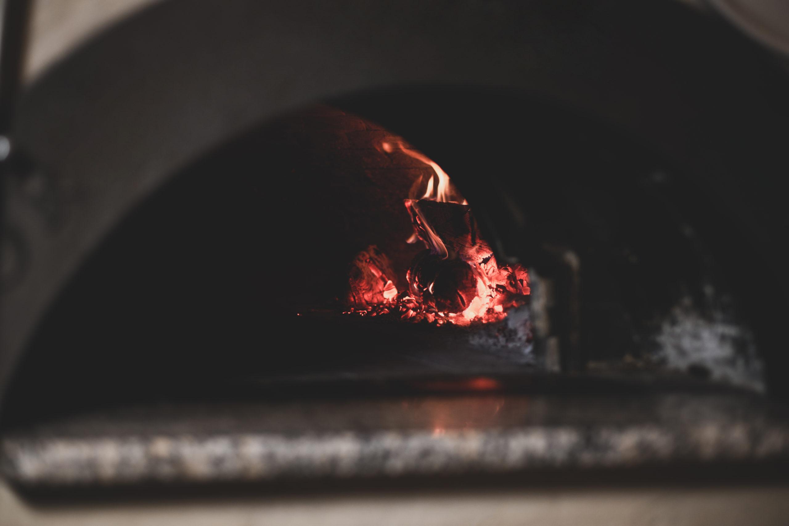 Pizzastein benutzen